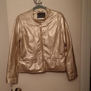 Cavalini Gold faux leather jacket.